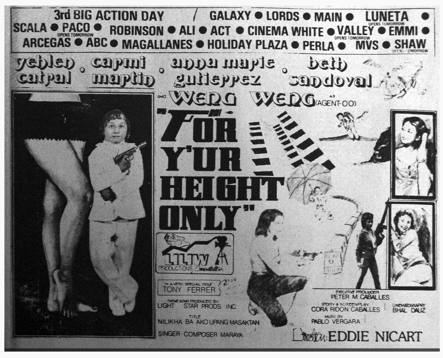 1981 - For Y?ur Height Only (Liliw Productions)